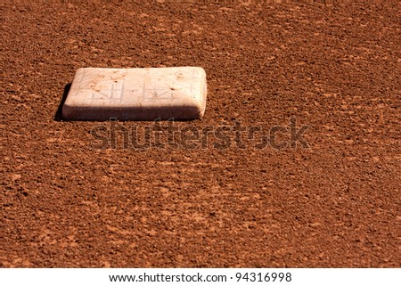 Baseball Field Second Base with room for copy - stock photo