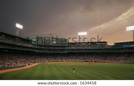 baseball game at Fenway Park, Boston, MA