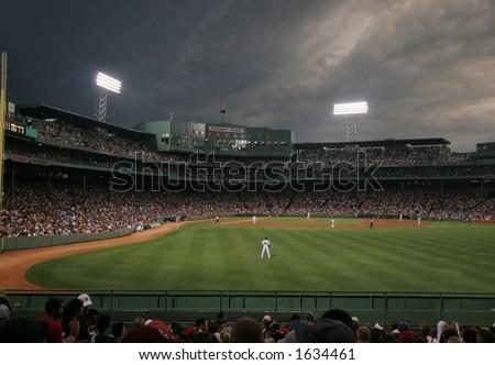 baseball game at Fenway Park, Boston, MA