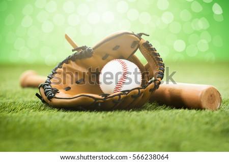 Baseball Glove And Ball #566238064