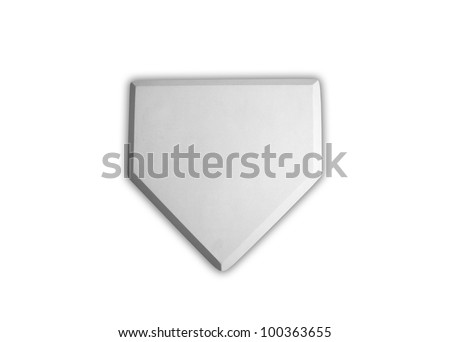 Baseball home plate base isolated on white