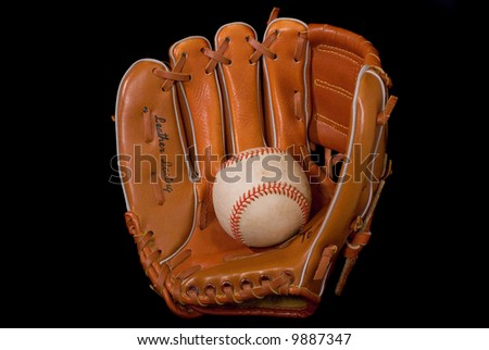 Baseball In Glove.