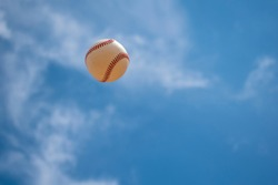 Baseball in the sky at July