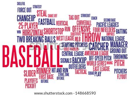 Baseball info-text graphic arrangement concept