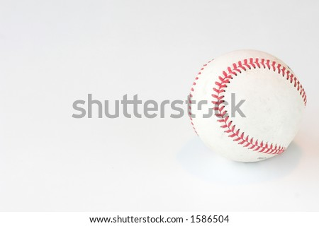 Baseball isolated against a white background