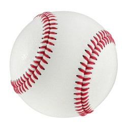 Baseball isolated on a white background with clipping path