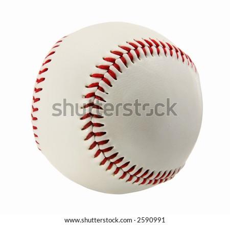 Béisbol aislado en blanco