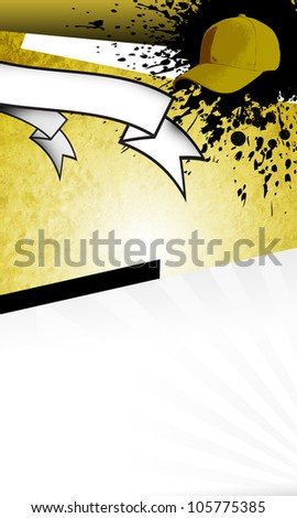 Baseball objects and space on grunge Abstract graphic Background