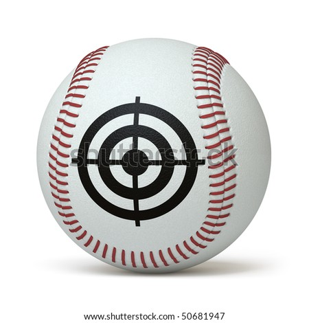 baseball on a white surface. In my portfolio there is collection of pictures of sport themes. You only enter IN a SEARCH the Photographer Name: PAVEL IGNATOV and keyword: SPORT - stock photo