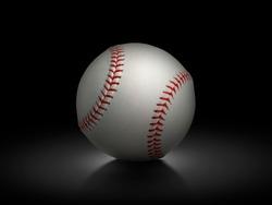 baseball on black background. Team sport