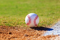 Baseball on Infield or Outfield with Grass and Dirt