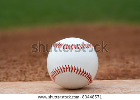 Baseball on the Infield or Pitchers Mound