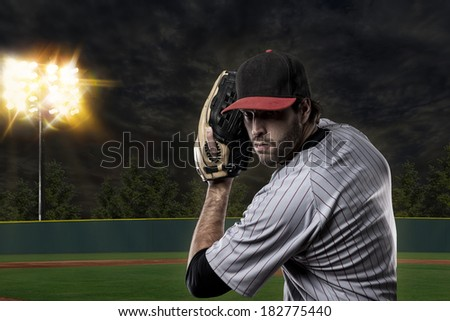 Baseball Player on a baseball Stadium