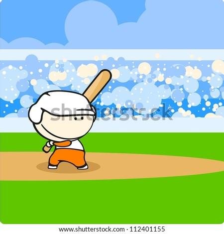 Baseball player (raster version)