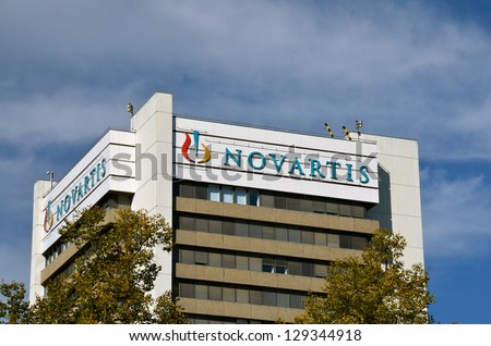 BASEL SWITZERLAND OCT 19 Novartis headquarters on October 19 2012 in Basel Switzerland Novartis is a Swiss multinational pharmaceutical companyranking number two in sales Big Pharma in 2010