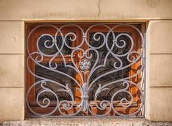 Basement window with old lattice