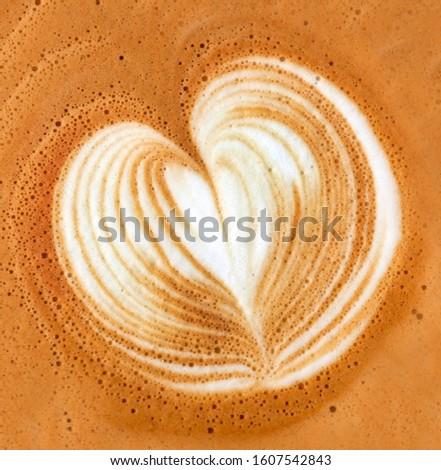 Basic cappuccino foam heart art.