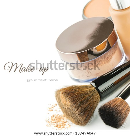 Basic make-up products. Foundation and powder