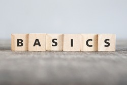 BASICS word made with building blocks