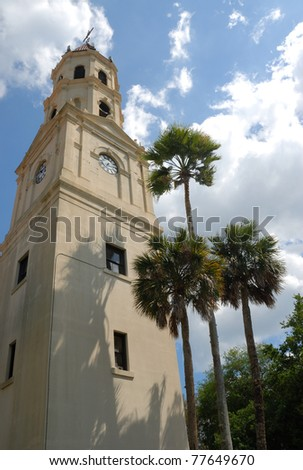 Basilica Cathedral of historic St. Augustine Florida usa