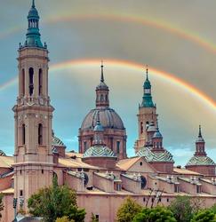 Basilica del Pilar in the city of Zaragoza in the north of Spain