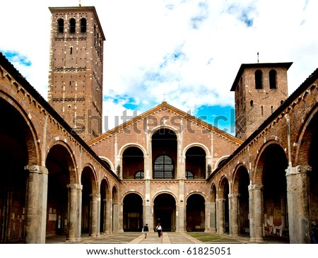 Basilica di Sant'Ambrogio, Milan, Italy.