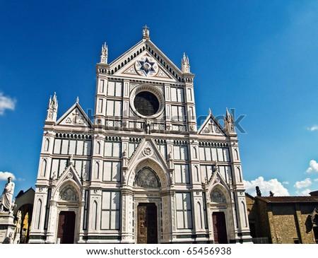 Basilica di Santa Croce (Basilica of the Holy Cross), in Florence, Italy.
