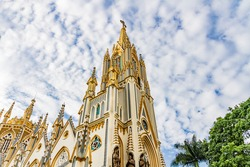 Basilica of Our Lady of Lourdes in Belo Horizonte, Brazil