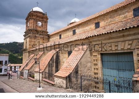 Basilica of Our Lady of Monguí, Boyacá, Colombia Stock fotó ©