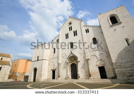 Basilica of Saint Nicholas, a church dedicated to Saint Nicholas of Smyrna, a famous pilgrimage site in Bari, Puglia, Southern Italy