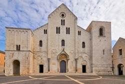 Basilica of Saint Nicolas Also Known As Basilica San Nicola de Bari At Bari Apulia Puglia Italy