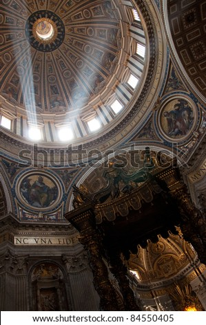 Basilica of Saint Peter,Vatican Rome