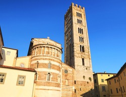 Basilica of San Frediano in Lucca .Tuscany. Italy