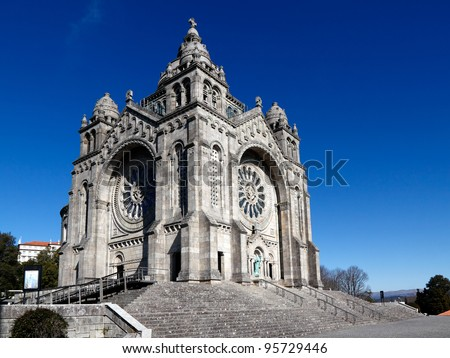 Basilica of Santa Luzia in Viana Castle, near Porto in Portugal