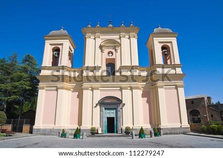 Basilica of St. Sepolcro. Acquapendente. Lazio. Italy. - stock photo