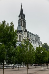 Basilica of the Immaculate Conception of the Blessed Virgin Mary in Lourdes and Basilica of Our Lady of the Rosary in Lourdes, France