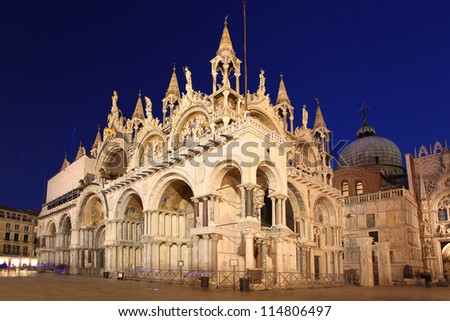 Basilica San Marco in the evening, Venice, Italy