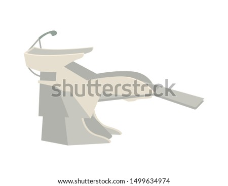 Basin for washing hair, hairdressers procedure raster. Sink for clients to sit and lean head for stylist to make new haircut. Hairdo making equipment