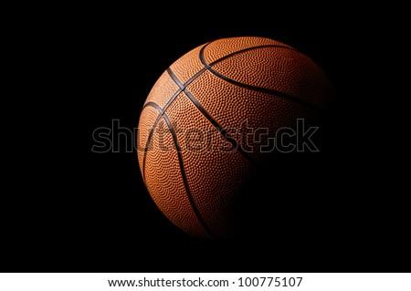 Basket ball in a dark background