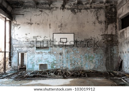 Basket ball room in Chernobyl