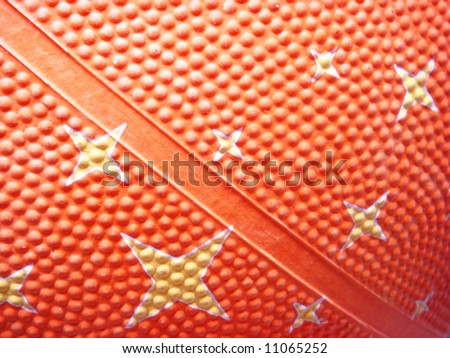 Basket ball texture with stars