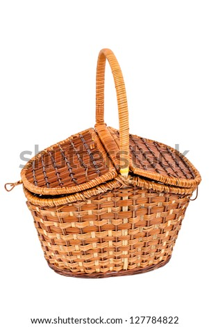 Basket for picnic, isolated