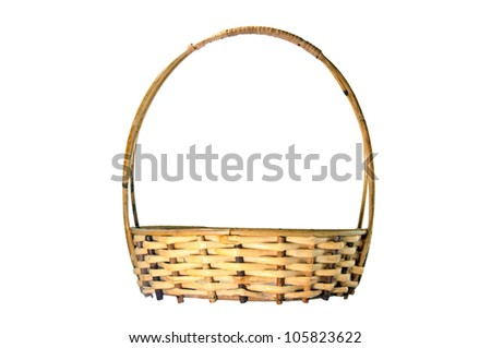 basket made from wickers.