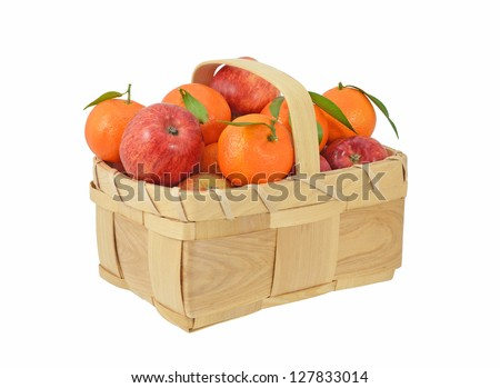 Basket of Apples and Oranges