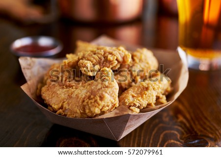 basket of tasty fried chicken tenders