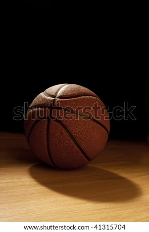 Basketball against the dark