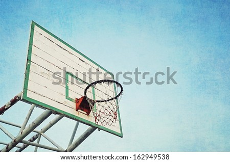 basketball and blue sky texture