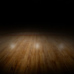 Basketball arena with special lighting effect. Copy space