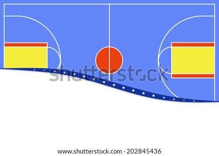 Basketball background.