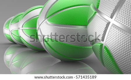 Basketball Background. 3D illustration. 3D CG. High resolution. #571435189